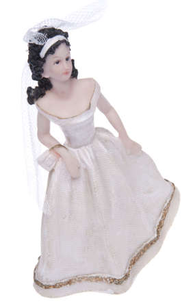 topper: Brunette Bride Cake Topper or Figurine.