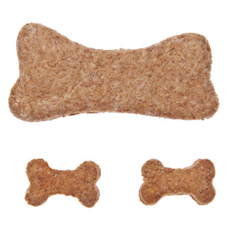 Bone shaped cookies or pet treats for your cat or dog. photo