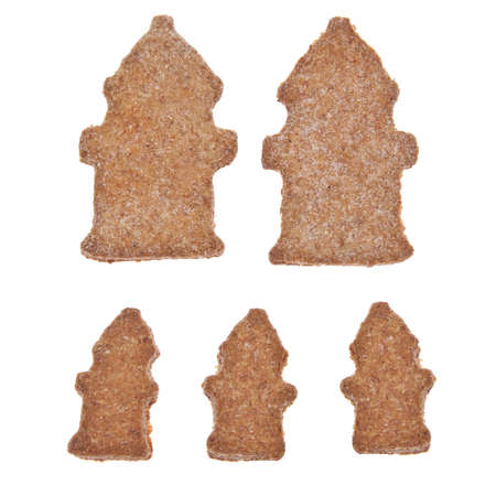 Fire Hydrant shaped cookies or pet treats for your cat or dog.  photo