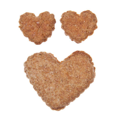 Heart shaped cookies or pet treats for your cat or dog.  photo