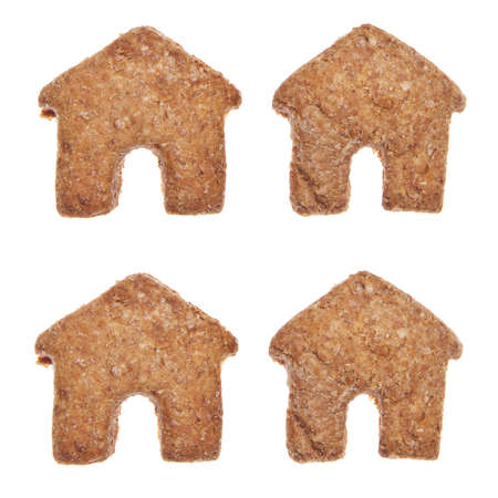 House shaped cookies or pet treats for your cat or dog. photo