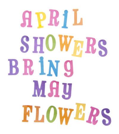 apporter: Le dicton populaire avril douches Bring May fleurs en dynamiques des couleurs pastels