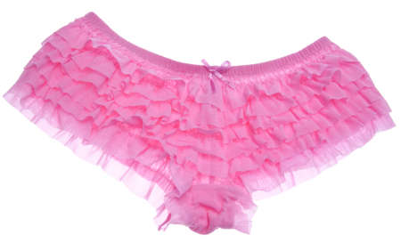 underwear: Ruffled Pink Panties