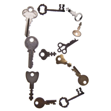 studio b: The letter B in Old Keys