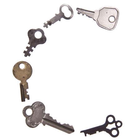 letter c: The letter C in Old Keys