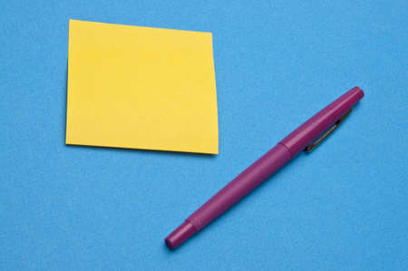 brigth: Brigth colors and office supplies for a vibrant modern office image.