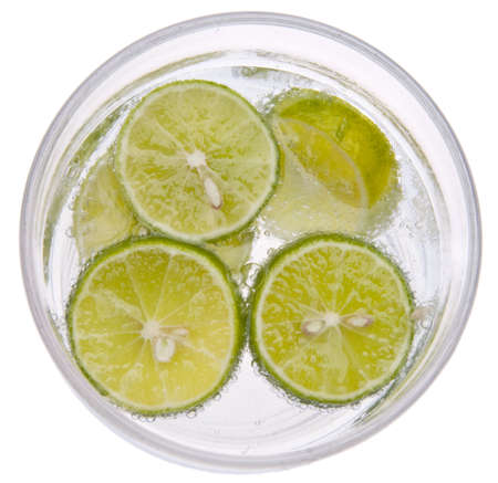 Seltzer Water with Key Limes.
