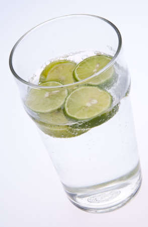 seltzer: Seltzer Water with Key Limes.