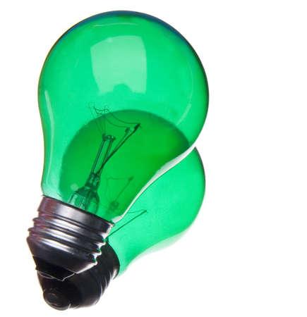 going green: Green Lightbulb Represents Ideas for Going Green.