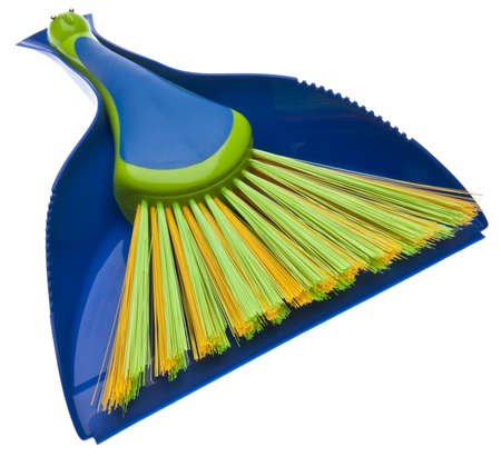 Dustpan and Brush in Vibrant Colors.