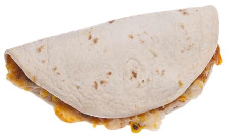Quesadilla Isolated on White