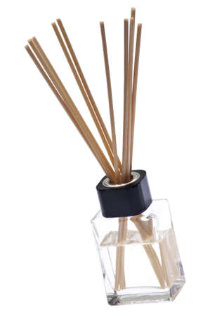 Reed Diffuser to Make a Room Smell Nice.  Isolated on White