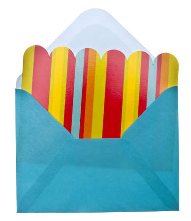 Vibrant Notecard with Envelope Isolated on White  Фото со стока