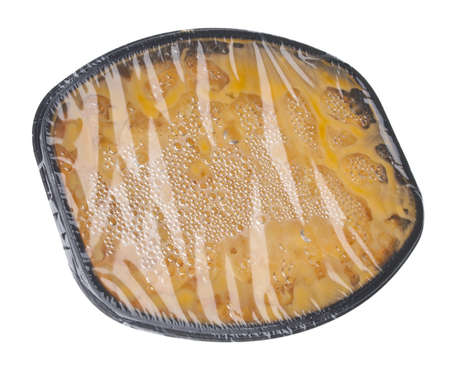 Traditional American Favorite Food Macaroni and Cheese Fresh From the Microwave