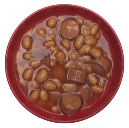Franks and Beans Tasty Snack Food Image. photo