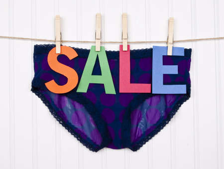 Vibrant Image for Your Next SALE Purple Panties. photo