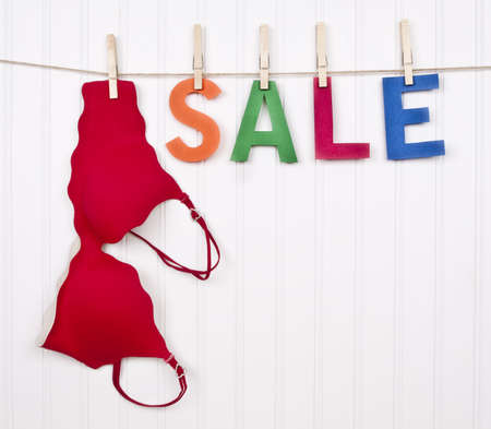 Vibrant Image for Your Next SALE featuring the word SALE and a Red Bra.