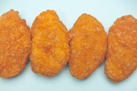 Vibrant Kid Friendly Chicken Nugget Dinner or Snack. Stock Photo - 7112379