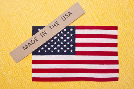 made: Made in the USA Stock Photo