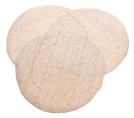 Whole Wheat Tortilla Wraps Isolated on White