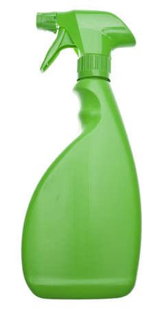 Green Cleaning Bottle for a Natural Environmentally Friendly Cleaning Concept.