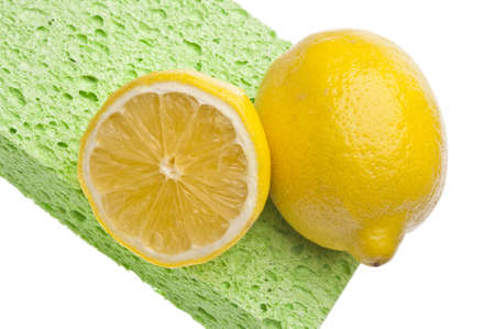 Lemons are a Natural Environmentally Friendly Way to Clean Your Home. Stock Photo