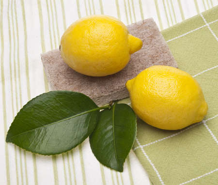 Lemons are a Natural Environmentally Friendly Way to Clean Your Home.   Banco de Imagens