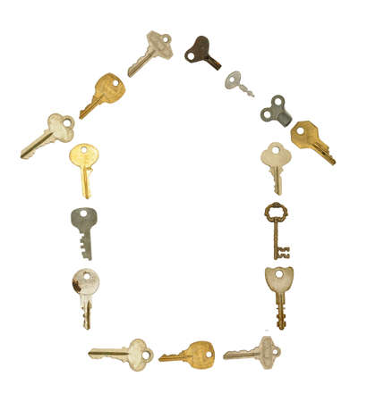 House Symbol in Old Keys Stock Photo - 7237172