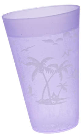 seltzer: Purple Tropical Cup of Seltzer Water Isolated  Stock Photo