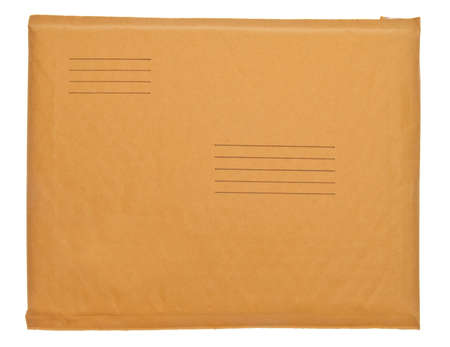 old envelope: Real Business Envelope with Lines for Shipping Address