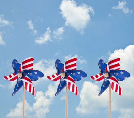 Patriotic American Pinwheel Stock Photo