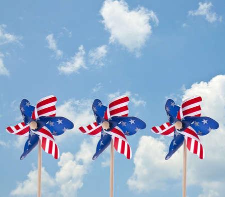 Patriotic American Pinwheel Standard-Bild