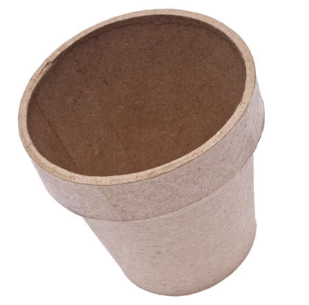 Empty Garden Pot that is Biodegradable and Good for the Environment.   Zdjęcie Seryjne