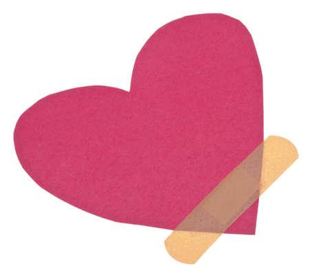 plaster Over A Broken Heart Conceptual Image.   photo