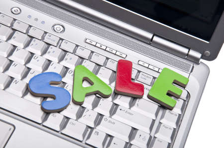 The Word Sale on A Laptop for Internet E-Commcece Sale Concepts. Stock Photo - 7315521