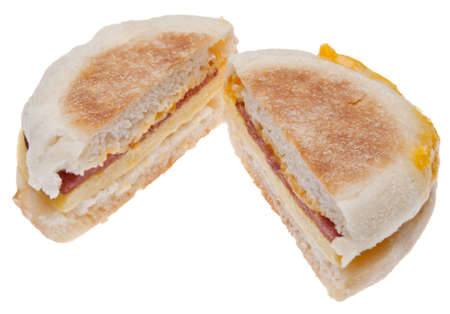Sliced Bacon, Egg and Cheese Breakfast Sandwich  photo