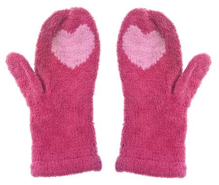 the mittens: Par de Bandana caliente con corazones de invierno.