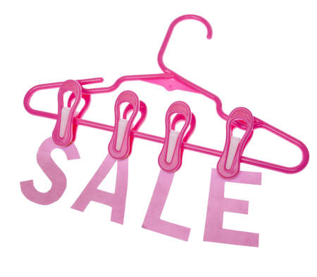 SALE Hanging from a Child Size Clothing Hanger. Stock Photo - 7412501