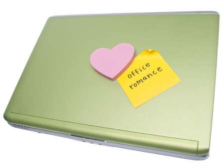 office romance: Office Romance Concept Image Stock Photo