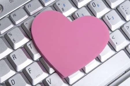 forbidden love: Office or Internet Romance Concept Image
