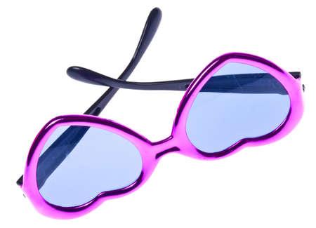 Heart Shaped Sunglasses Isolated on White Stock Photo - 7433298