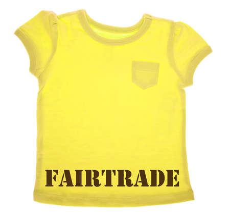 fairtrade: Yellow Tee Shirt with Fairtrade Message
