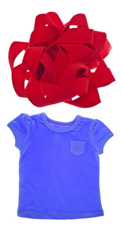 sleeve: Tee Shirt with Holiday Bow