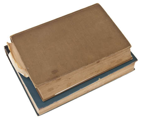 Vintage Books Isolated on White  Stock Photo