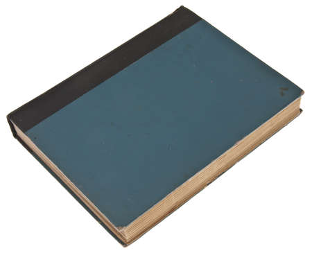 very dirty: Blue Vintage Book Isolated on White  Stock Photo