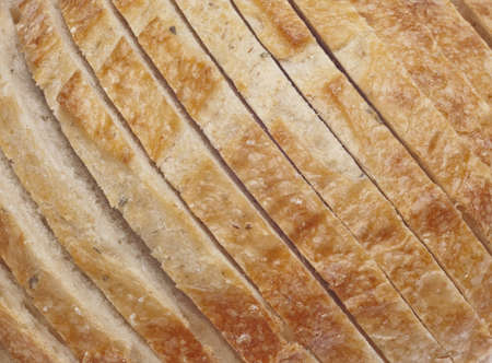 fresh slice of bread: Fresh Slice Bread Loaf Close Up Detail Stock Photo