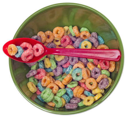 Vibrant Bowl with Breakfast Cereal as Seen from Above  photo