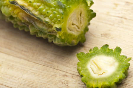 Bitter Melon Gourd is a Vegetable from India and Asia that Scientists are Using to Study for a Cure for Cancer. 免版税图像 - 7986438