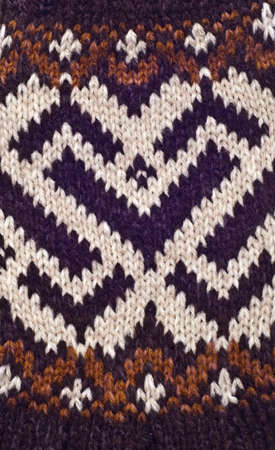 Close Up of Brown Knit Pattern Background Image.