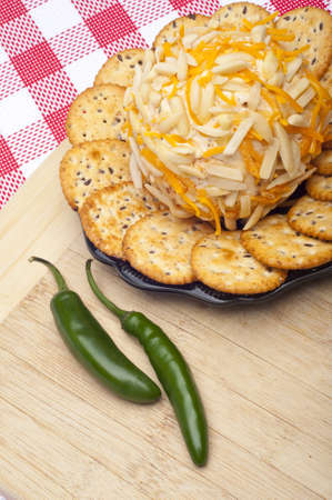 Savory Cheeseball Appetizer in a Kitchen Scene. photo